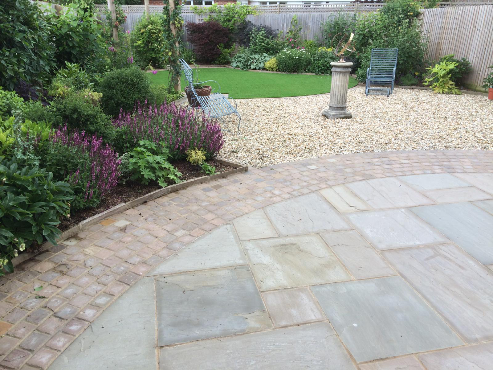 Complete garden landscaping project
