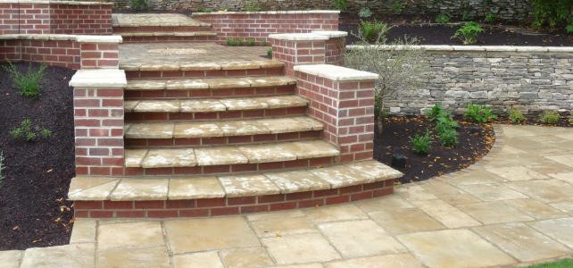 Landscaping garden steps